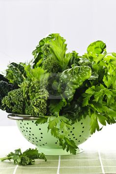 Green Leafy Vegetables (Turnip, Mustard, and Dandelion Greens, Collards, Kale)