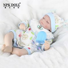 125.00$  Watch now - http://alium0.worldwells.pw/go.php?t=32721848577 - 16 inch Artificial Reborn Baby Doll Toy Infant Feeding Baby Model For Children Birthday Gifts Brinquedos Princess Bonecas