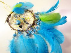 Horse Dancer's Handmade Blue Buffalo Dream Catcher by jungleeyejoe on Etsy