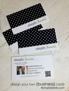 {design your own business cards} an easy tutorial