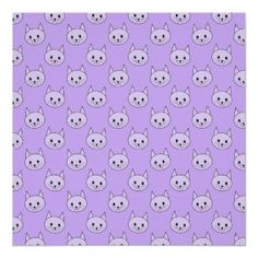Lilac Purple cat pattern. Poster #Cats #Purple # Posters