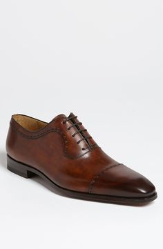 Brown Leather Oxford Shoes by Magnanni. Buy for $375 from Nordstrom