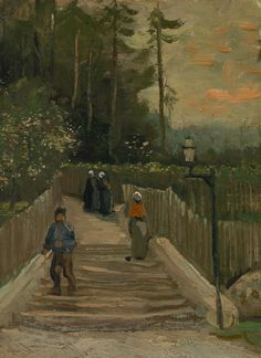 """""""Path in Montmartre"""" (1887) ~ Vincent van Gogh"""
