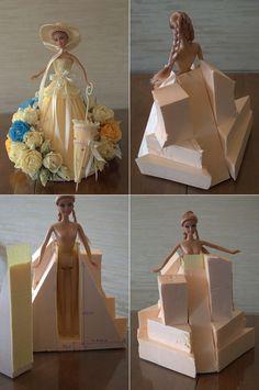 DIY Crepe Paper Barbie Dress - http://ohsolovelyblog.me/diy-crepe-paper-barbie-dress/