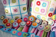 crochet cushions and pin cushions