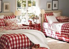 simple red and white quilts | photo description and details white and red square pattern ...
