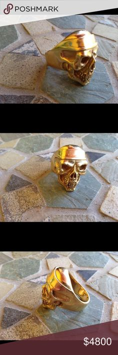 18k solid gold. 50 Gram Golden Skull. 18k solid gold. 50 Gram Golden Skull. One of a kind. The only one ever made. Thomas Sabo Accessories Jewelry