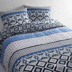 Iniminnie blauw 1 persoons 140x200/220