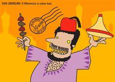 Promocard multisoggetto di promozione del servizio di Food Delivery Etnico DELIRAMA Bart Simpson, Delivery, Graphic Design, Fictional Characters, Fantasy Characters, Visual Communication