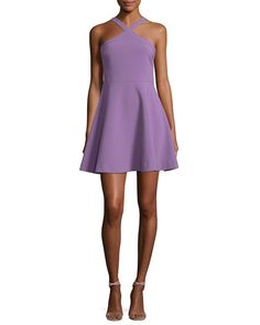 d7498d1d17c Ashland Halter Sleeveless Fit-and-Flare Short Dress by Likely at Neiman  Marcus
