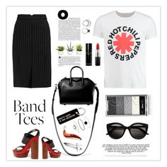 """I'm With the Band: Band T-Shirts"" by mars ❤ liked on Polyvore featuring Givenchy, Norma Kamali, Michael Kors, Bobbi Brown Cosmetics, Rachel Jackson, Accessorize, Various Projects, MAC Cosmetics, Iosselliani and bandtees"