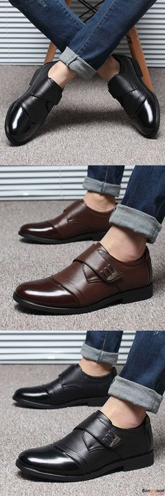 US$42.36 + Free shipping. Men Leather Shoes, Hook Loop Shoes, Genuine Leather Shoes, Formal Shoes, Business Shoes, Shoes for Ball, Shoes for Formal Occasion. Material: Genuine Leather. Color: Black, Brown. A Good Company on the Way to Success.