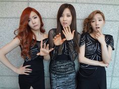 Taeyeon : ~_~ (with Tiffany & Seohyun)