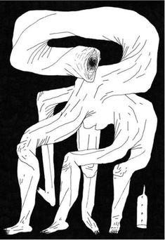 Carp Matthew - Person I saw eyeballing the meats Bizarre Art, Carp, Psychedelic, Joker, Drawings, Illustration, Painting, Fictional Characters, Artworks