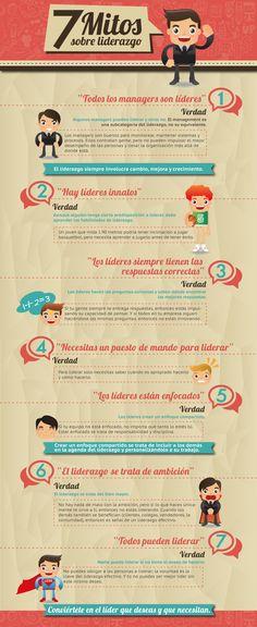 7 mitos sobre Liderazgo #infografia #infographic #leathership