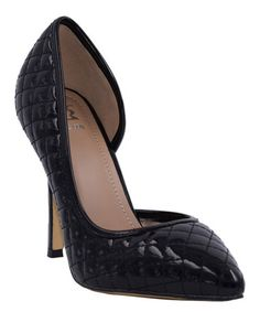 Classy--Take a look at this Black Quilted Pump on zulily today!