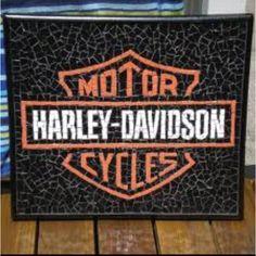 Harley Davidson mosaic... Must make for Tim!
