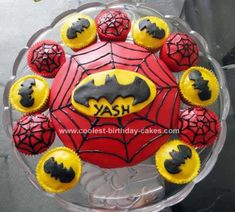 Homemade Superhero Birthday Cake: My son wanted a superhero themed cake for his 5th birthday; his favourites being Spiderman and Batman. I decided to make him a Homemade Superhero Birthday