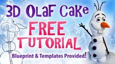 3D Olaf Cake - Yeners Way