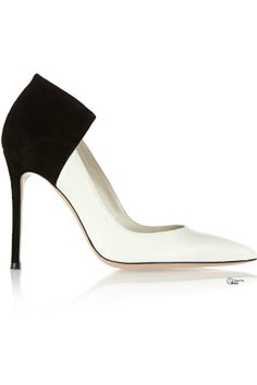 Gianvito Rossi ● Two-tone black and white high heel shoe.