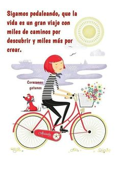 Find images and videos about cute, text and illustration on We Heart It - the app to get lost in what you love. Bicycle Illustration, Illustration Girl, Bike Drawing, Bicycle Art, Cycling Art, Jolie Photo, Graphic, Illustrations Posters, Creations