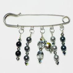 Spacer Beads Safety Pin Brooch Knit Scarf Sweater Brooch Pin Mother/'s Day Gifts