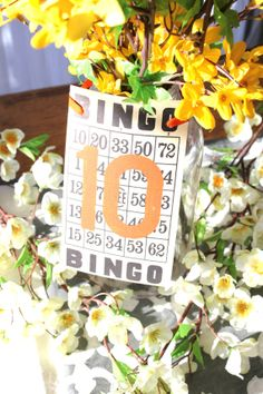 Vintage Wedding Table Numbers 125 / by OurLifeInTheWoods on Etsy, $26.00