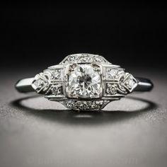 .40 Carat Diamond Platinum Art Deco Engagement Ring