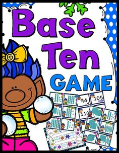 Base Ten Game - A super fun way to help your students recognize numbers as ones, groups of tens, and hundreds.Students practice reading base ten picture cards and matching them to the correct number cards.Game:30 sets of matching task cards, game board, instruction/title cards, answer key Great game to add to your math center for the winter.Enjoy!CSL...a teacher's helper