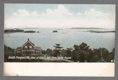 54101-OLD-POSTCARD-CASCO-BAY-FROM-CASTLE-PIAZZA-IN-SOUTH-FREEPORT-MAINE