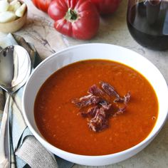 Roasted Tomato Soup - easy to make, delicious to eat. Can't wait to try it with the tomatoes soon coming from the garden!#Repin By:Pinterest++ for iPad#
