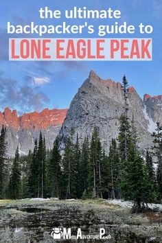 Discover Colorado's best overnight backpacking trail. Lone Eagle Peak is an 17-mile out-and-back trip that's suitable for fit beginners. Learn everything you need to photograph this iconic mountain for yourself! #coloradohiking #coloradobackpacking #missadventurepants