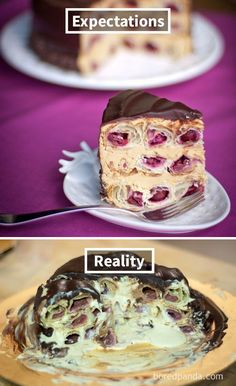 Expectations Vs Reality: 100 failed attempt to make a cake – Funnyfoto Bad Cakes, Expectation Reality, Funny Cake, No Bake Cake, How To Make Cake, Funny Pictures, Baking, Pinterest Fails, Cursed Images
