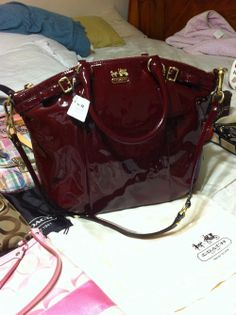 Patent Leather Coach Bag. Twin of my Xmas coach bag Coach Handbags 700d9576887f0