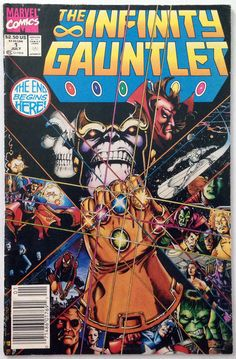 Marvel Comics - The Infinity Gauntlet #1 VG+ 4.5 - Thanos Cover 1991