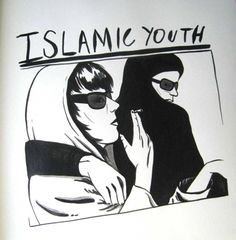 TVAT  Islamic Youth  2009  Ink on paper  12 x 12 inches
