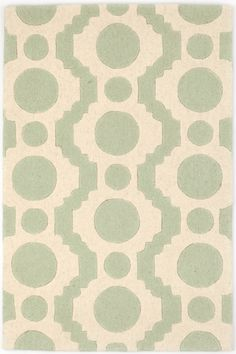Circle Fret Ocean Wool Tufted Gray/Ivory Area Rug