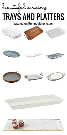 Find All Of The Best Beautiful Serving Trays And Platters For Your Next Big Meal Featured On Remodelaholic.com Serving trays for Thanksgiving. Serving ware for formal meals.