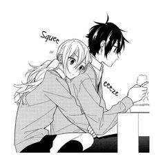 manga, horimiya, and anime image Couple Anime Manga, Anime Love Couple, Anime Couple Romantique, Manga Romance, Photo Manga, Romantic Anime Couples, Anime Couples Cuddling, Anime Couples Hugging, Funny Anime Couples