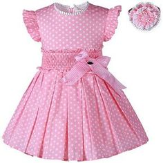 Diy Crafts - Fashion-Find great deals for Girl Kids Polka Dot Dress and Headband Set Pleated Summer Princess Party Wedding. Shop with confidence on eB Girls Summer Outfits, Little Girl Dresses, Kids Outfits, Girls Dresses, Toddler Dress, Baby Dress, Little Girl Fashion, Kids Fashion, Fashion Outfits