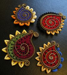 A few new Paisley brooches! | by woolly  fabulous