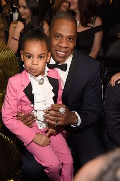 Blue Ivy's Grammys show-stealing pink tuxedo suit was a tribute to Prince.