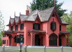 Roseland Cottage. Woodstock, CT. Joseph C. Wells. Carpenter Gothic.