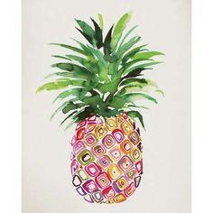 Pineapple Canvas Art - Summer Thornton (24 x 30)