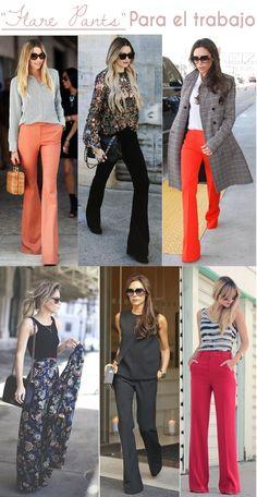 flare pants - pantalones campana