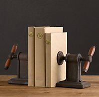 Vise Bookends (Set of 2) - a bit obsessed with these.
