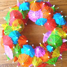 Umbrella wreath! cute DIY for the summer!