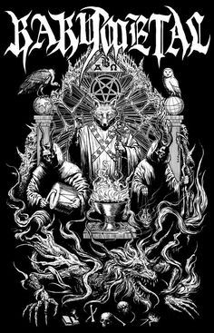 Heavy Metal, Black Metal, Metal Band Logos, Metal Bands, Satanic Art, Evil Art, Dark Art Drawings, Extreme Metal, Beautiful Posters