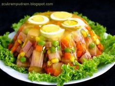 Easter Recipes, Lunch Recipes, Salad Recipes, Cooking Recipes, Appetizer Salads, Appetizer Recipes, Appetizers, Polish Recipes, Light Recipes