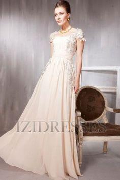 Lacy Girly Flowy Elegant...A-Line/Princess Square Floor-length Chiffon Evening Dress $149